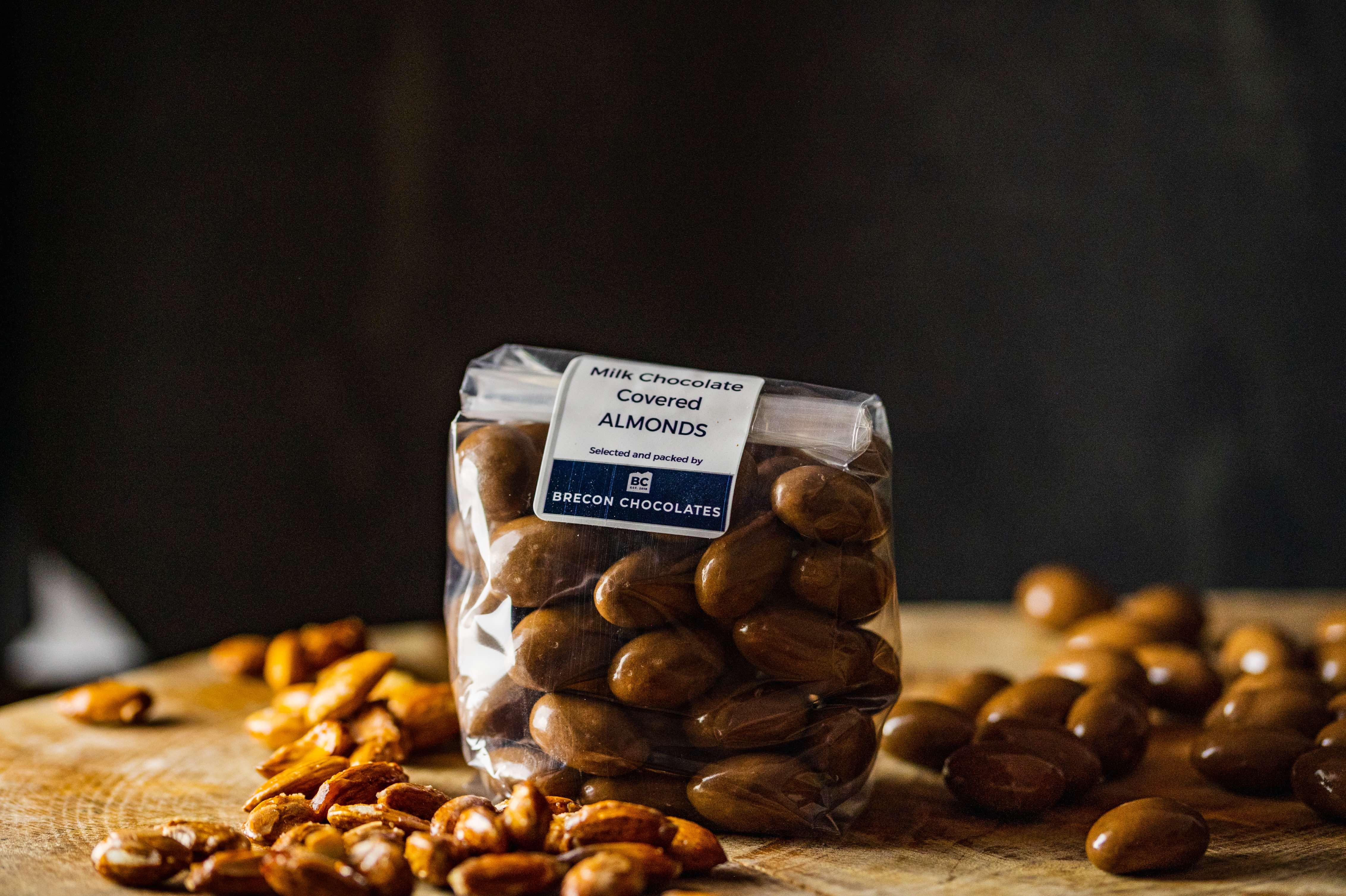Milk Chocolate Covered Almonds.