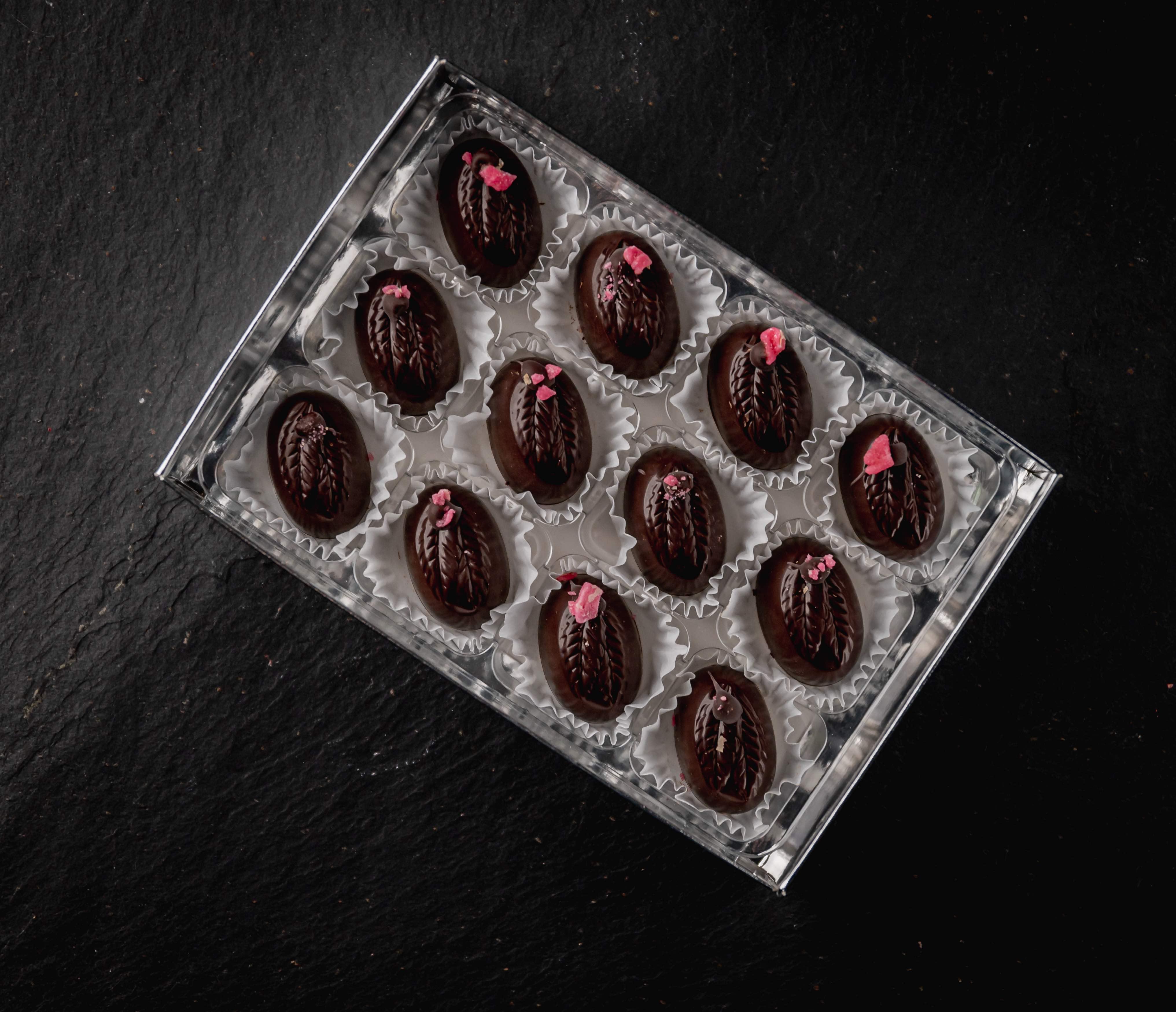 Rose Fondant Creams. 12# Dark Chocolate