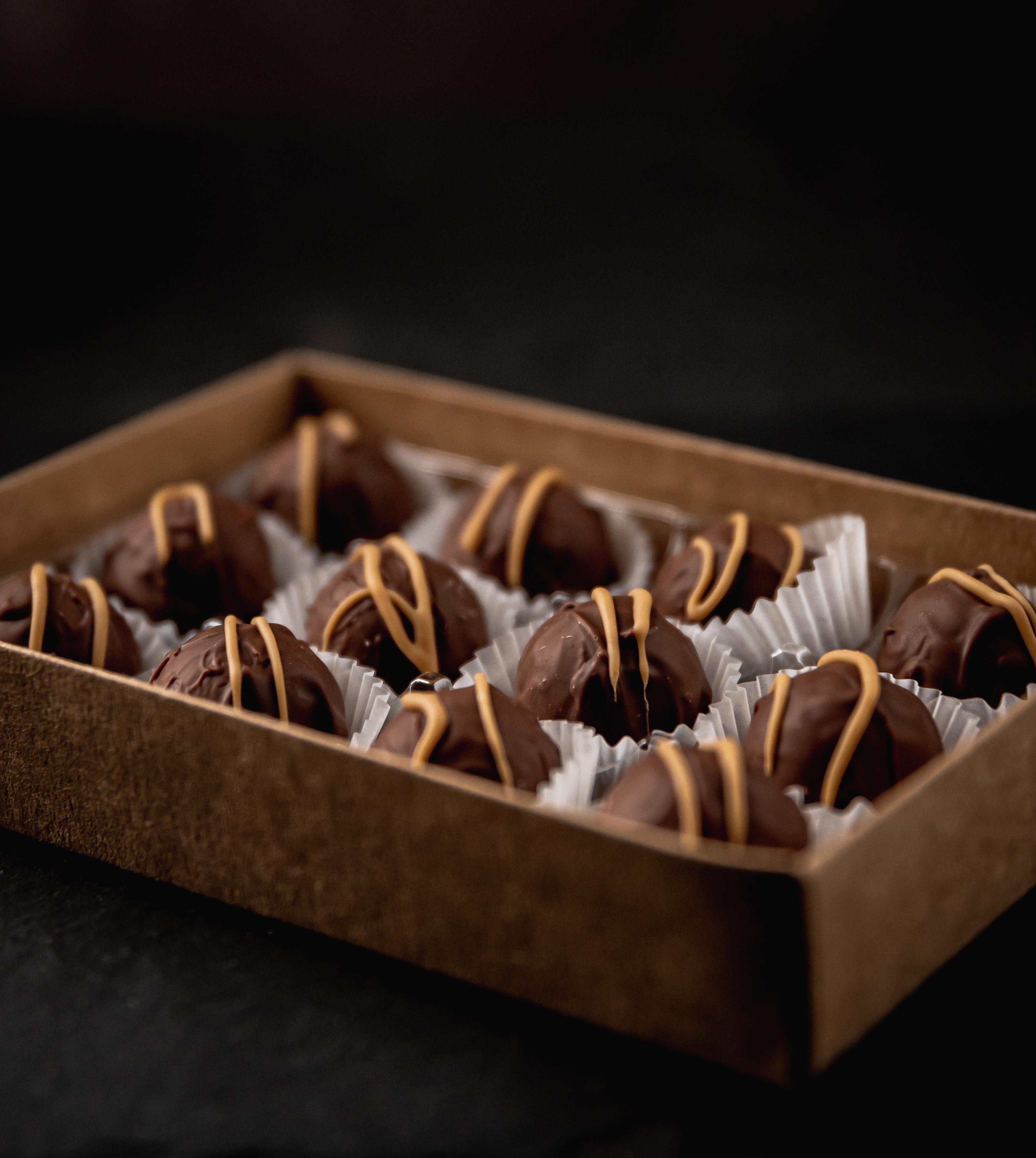 12# Milk Chocolate Salted Caramels .