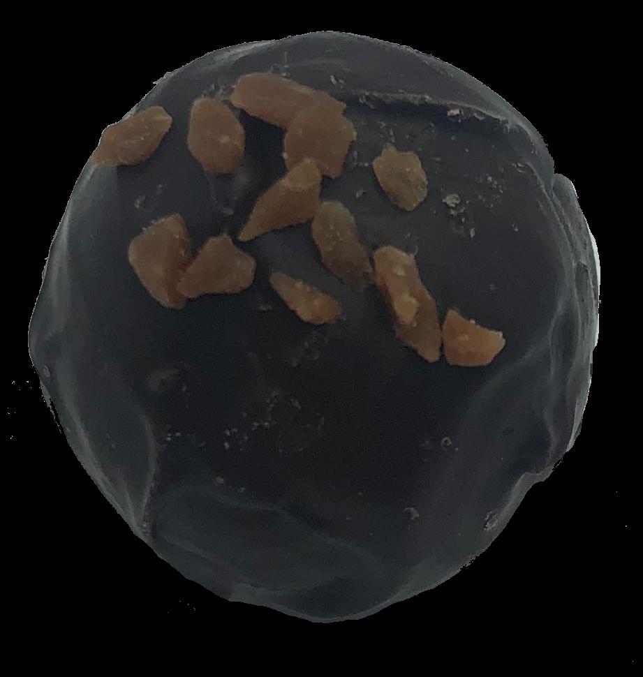 Dark Chocolate Salted caramel truffle.
