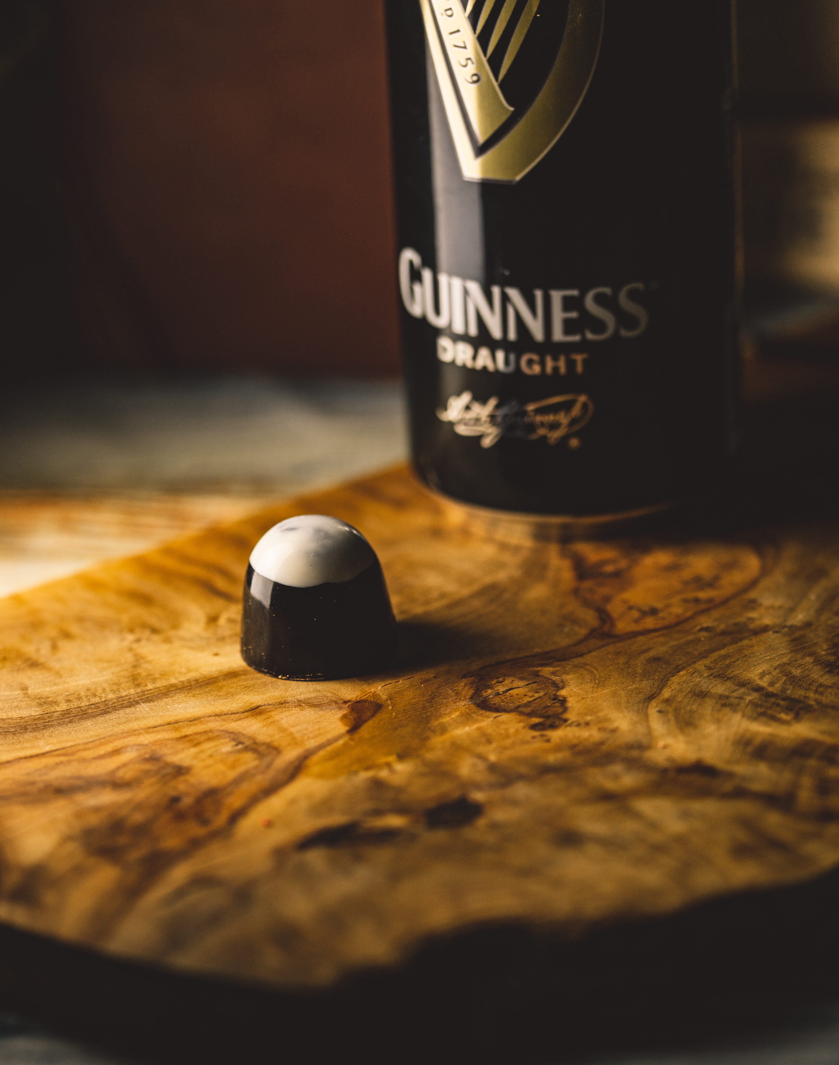 Dark chocolate Guinness Bonbon
