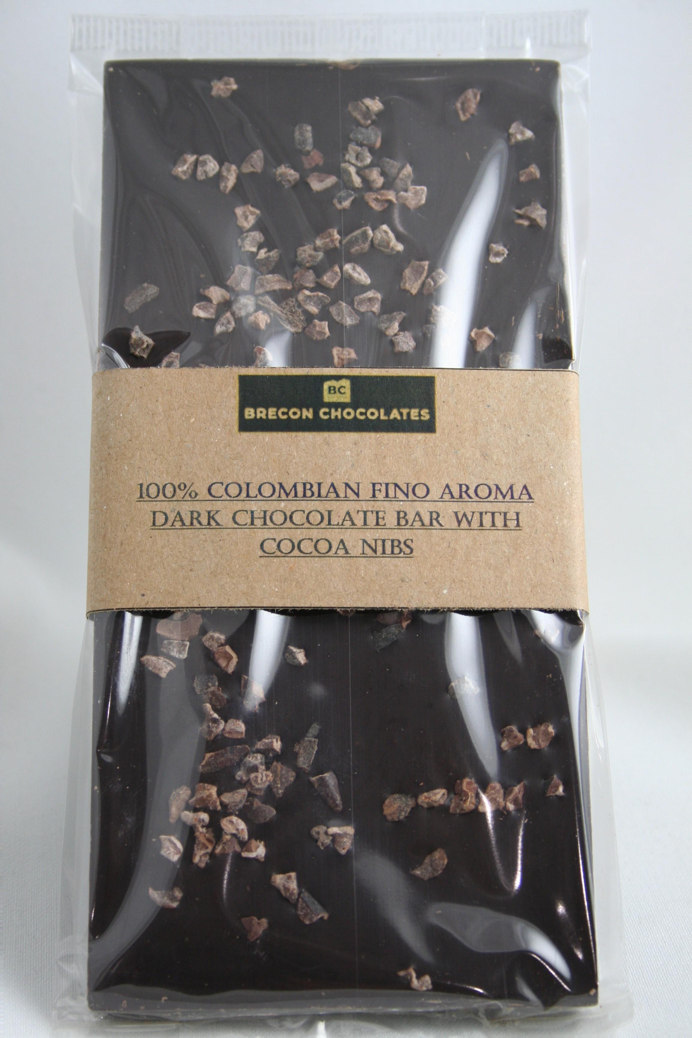 100% Colombian Fino Aroma Dark Chocolate. 100g.