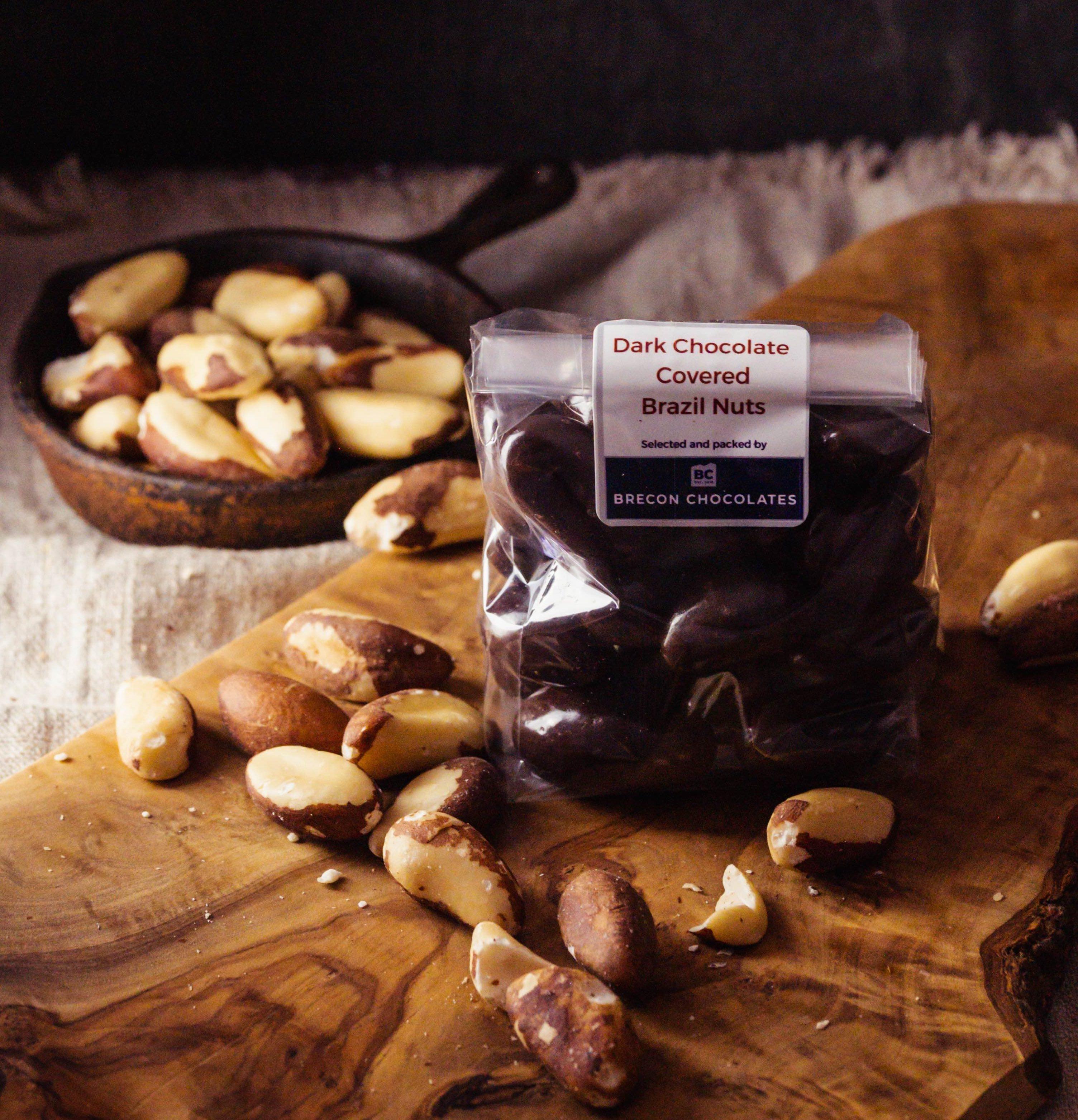 Dark Chocolate Covered Brazils  200g