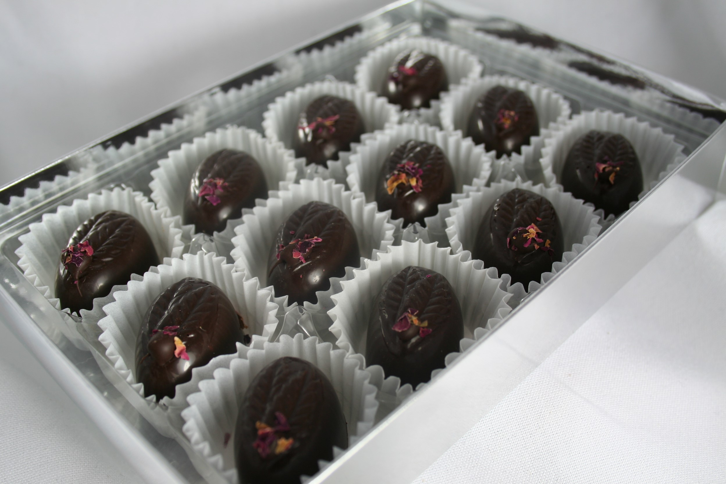 Rose Fondant Creams. 12# Dark Chocolate .