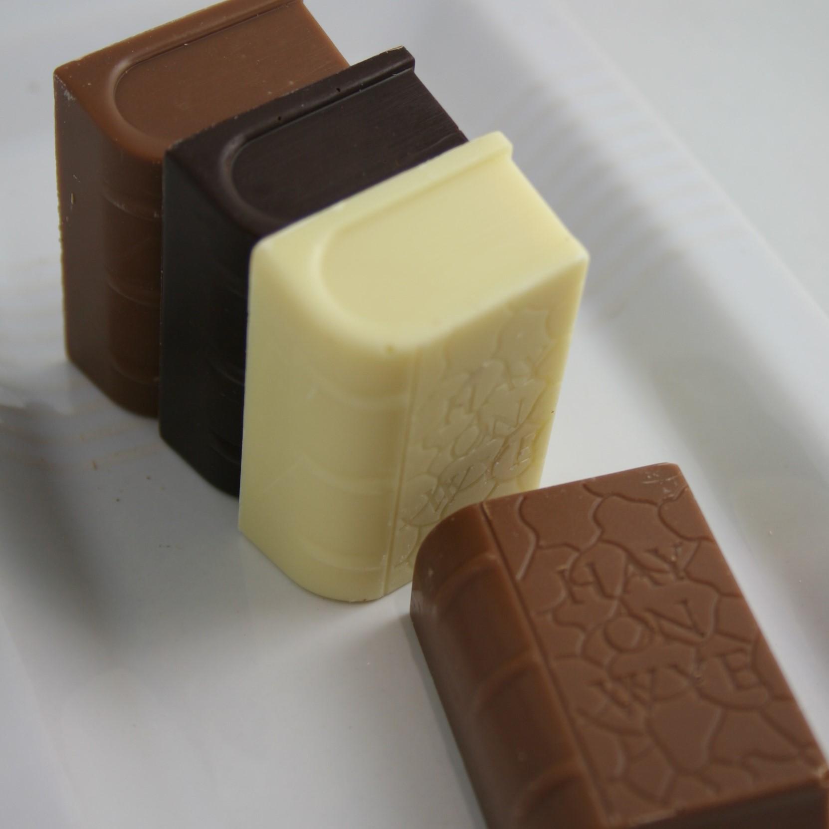 Mini Book Pack. 4 different Solid Chocolate Mini Books.