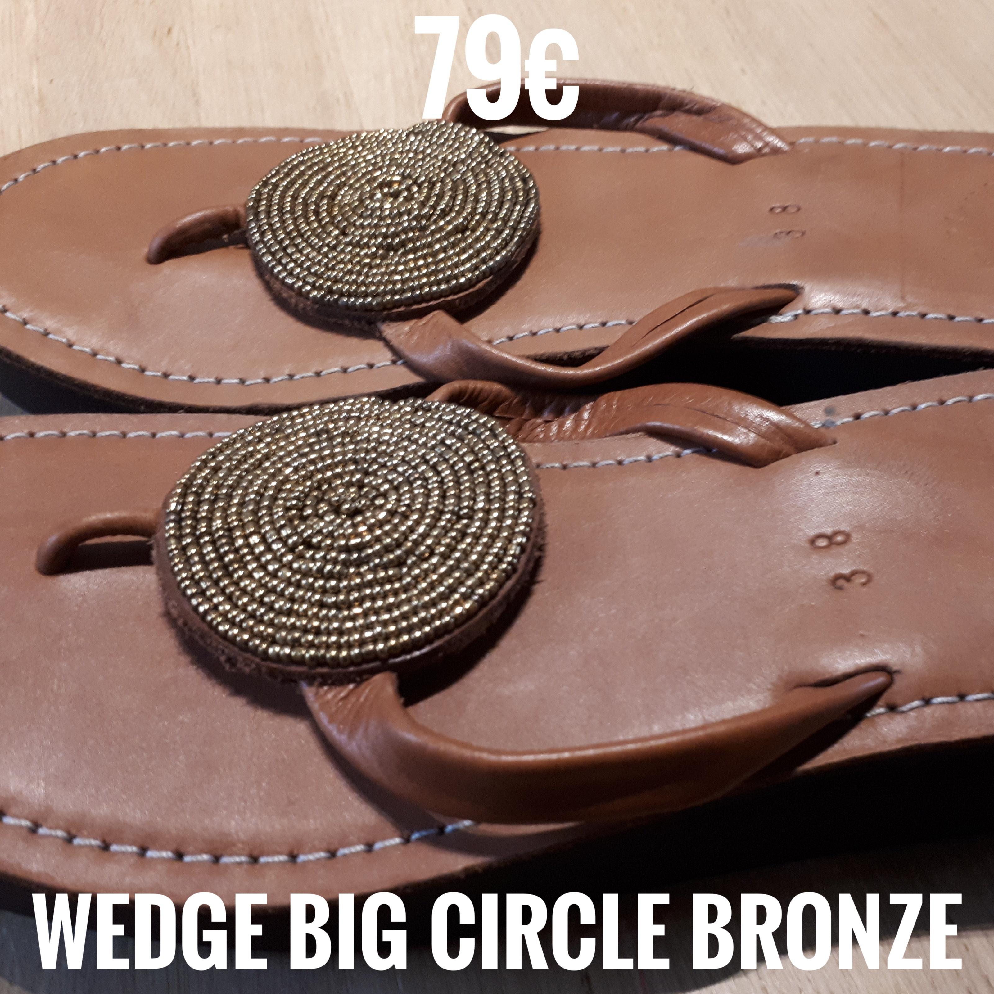 Wedge Big Circle Bronze