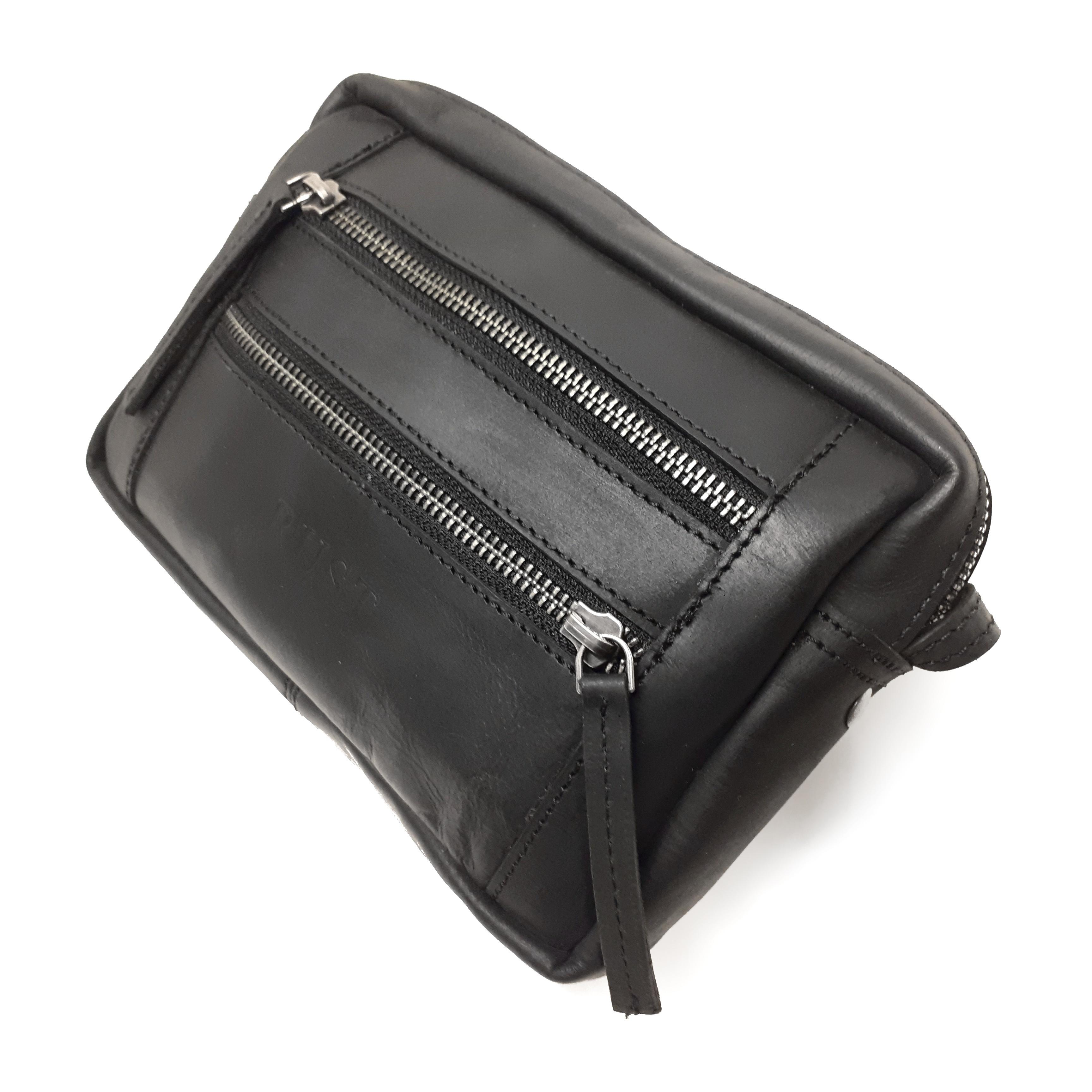 Crossbody 3-Zip Shoulder Bag Black