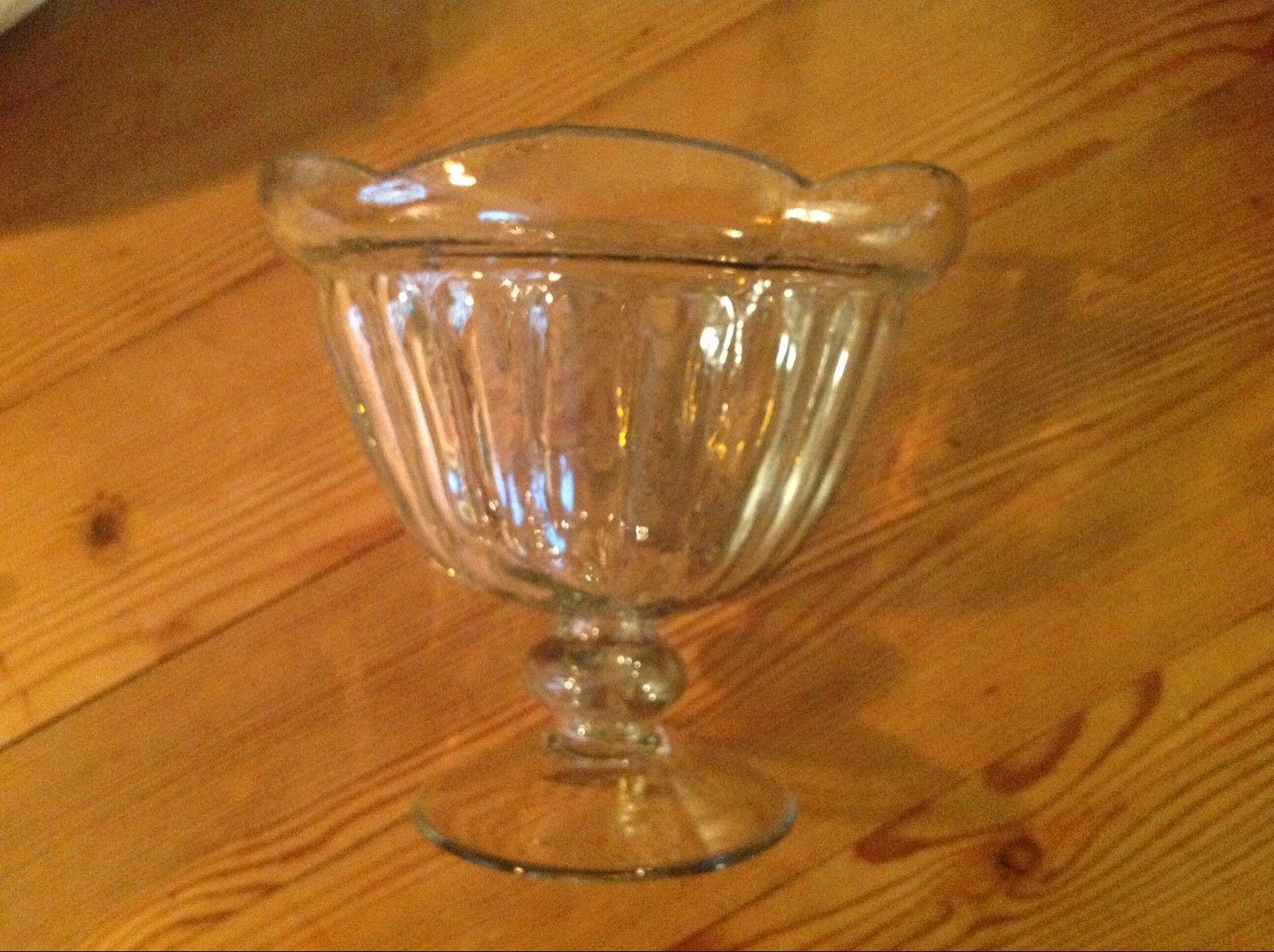 Glas skål  (second hand, vintage, retro)