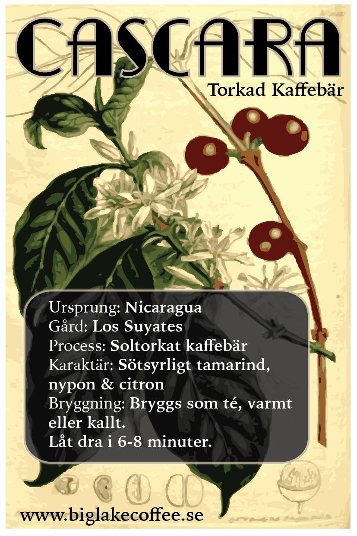 Cascara (torkad kaffe fruktkött)