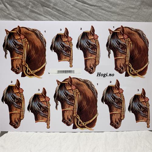 3D klippeark hest