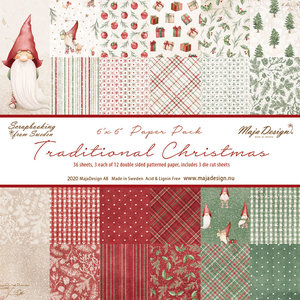 Maja Design. Traditional Christmas - Paper Pack 6x6. TRA-1128