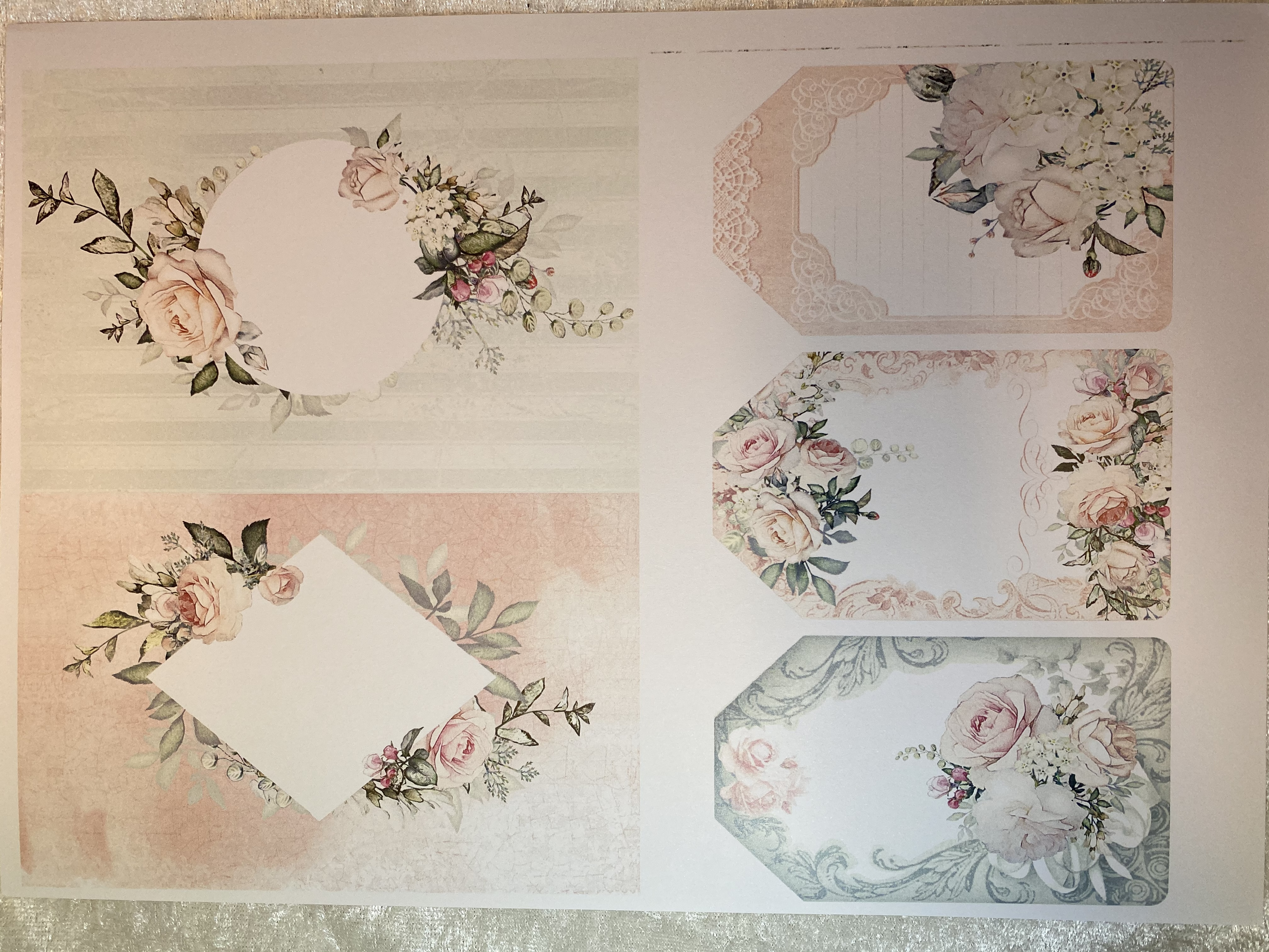Felicita Design blokk - Wedding -  6 stk A4 mønsterark