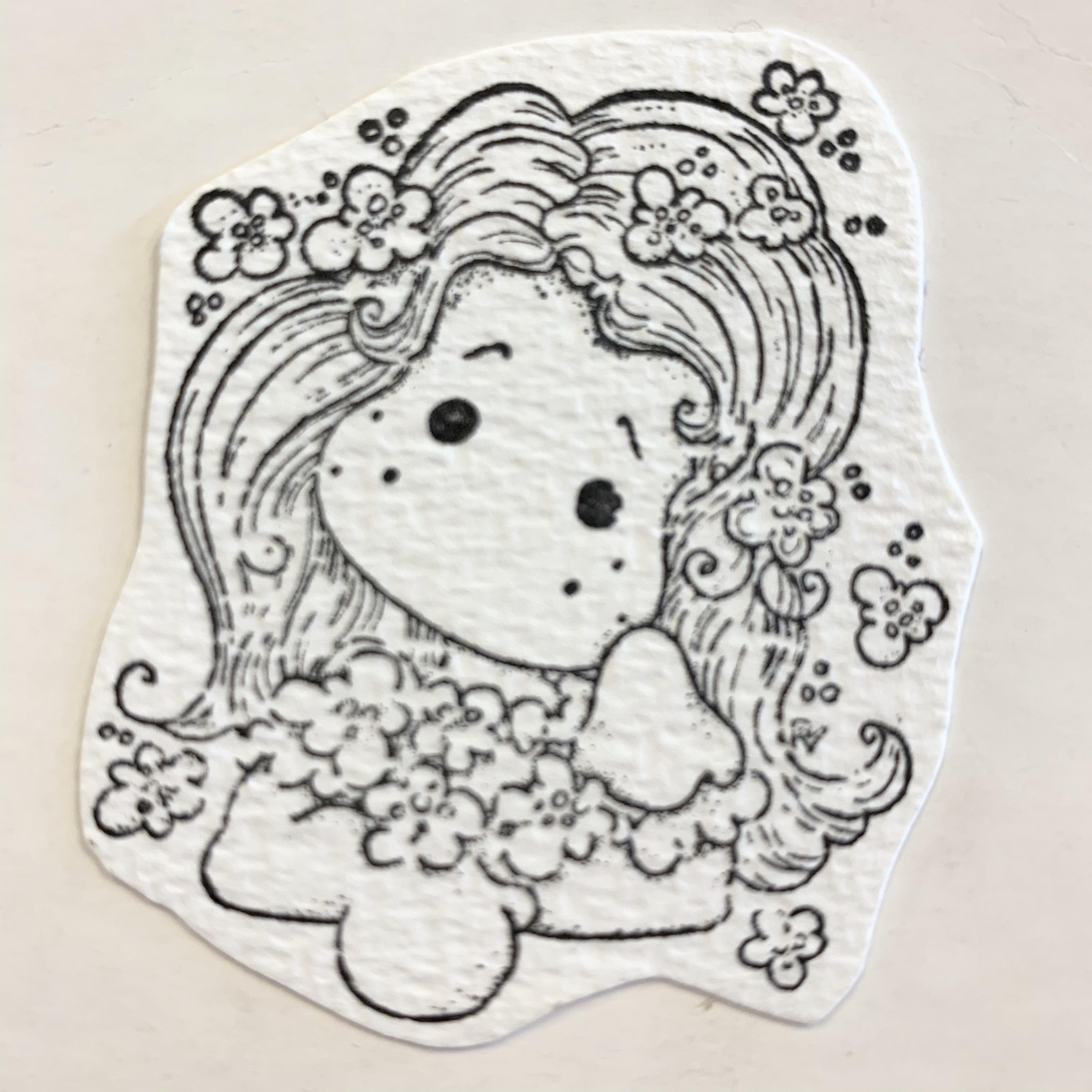 Magnolia stempel : jente fra livet og opp