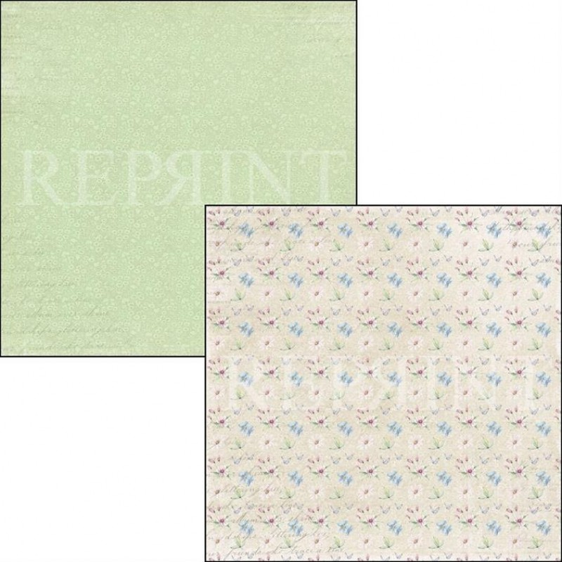 Reprint 12x12, Summervibes collection, Small flowers. RP0356