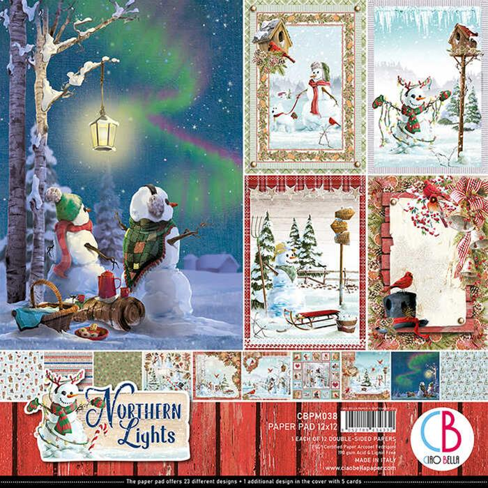 "Ciao Bella Paper Pad 12x12"" ""Northern Lights"" CBPM038"