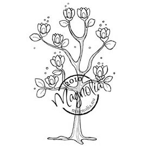 Magnolia stempel : Tre med blomster/ Hoppy easter cling stamp
