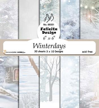Felicita design Winterdays 30 ark 3x10 design 6ˋx6ˋ