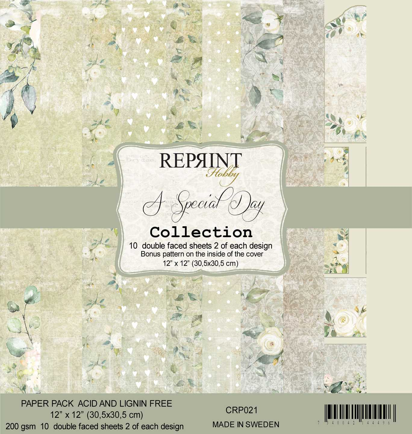 Reprint 12x12, A special day collection paper pack, CRP021