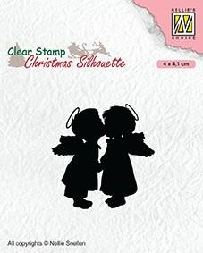 "NS Clearstamp ""Two kissing angels"" CSIL012. Engler. Stempel."