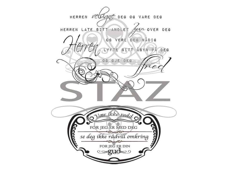 Staz Stempelsett – Herren Velsigne Deg (Nynorsk)