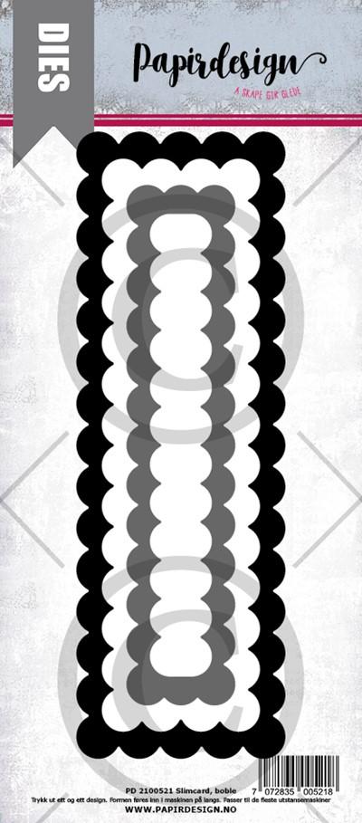 Papirdesign dies Slimcard boble