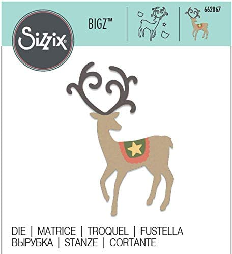 Sizzix 662867 bigz graceful reindeer