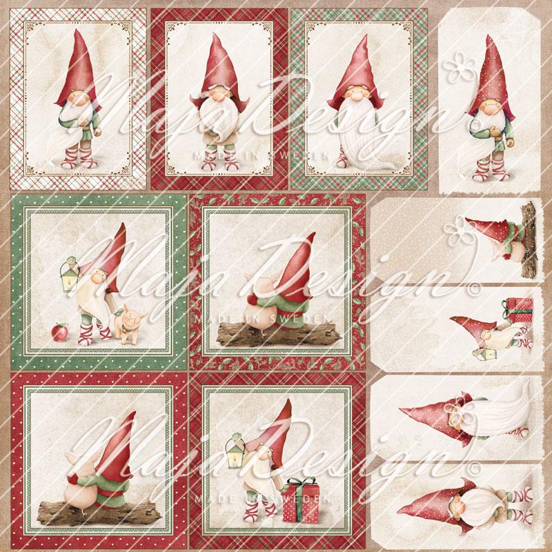 Maja Design mønsterark 12'x12' Traditional christmas. Die cuts. TRA-1127