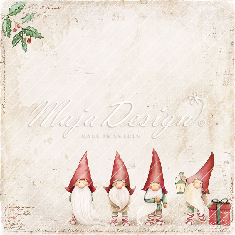 Maja Design mønsterark 12'x12' Traditional christmas. Santa's elves. TRA-1116
