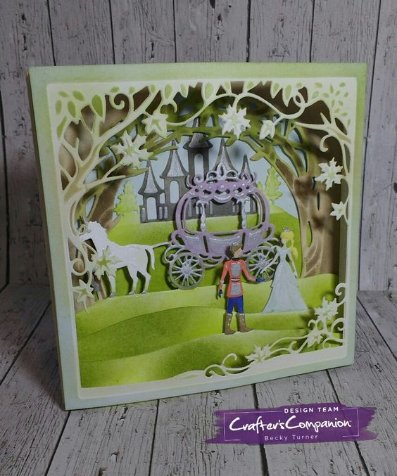 """Gemini Build A Scene dies """"Happily ever After"""" GEM-MD-CAD-HEAF  127x127mm"""