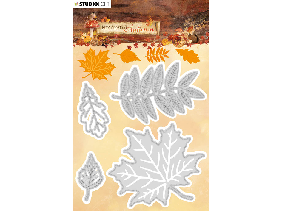StudioLight die, blader, wonderful autumn, stencil308