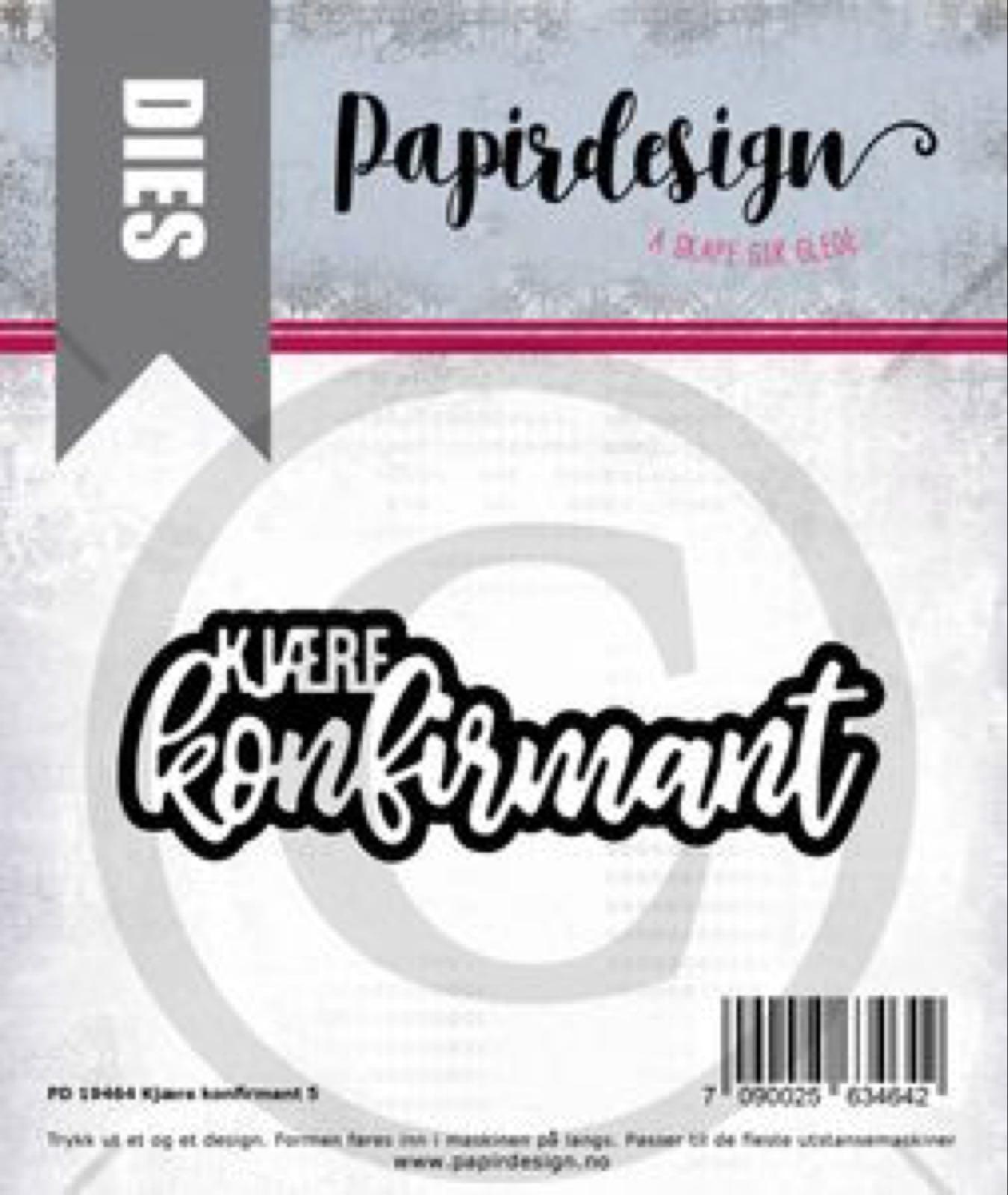 -50% (Demo brukt) Papirdesign PD 19464 Kjære konfirmant 5