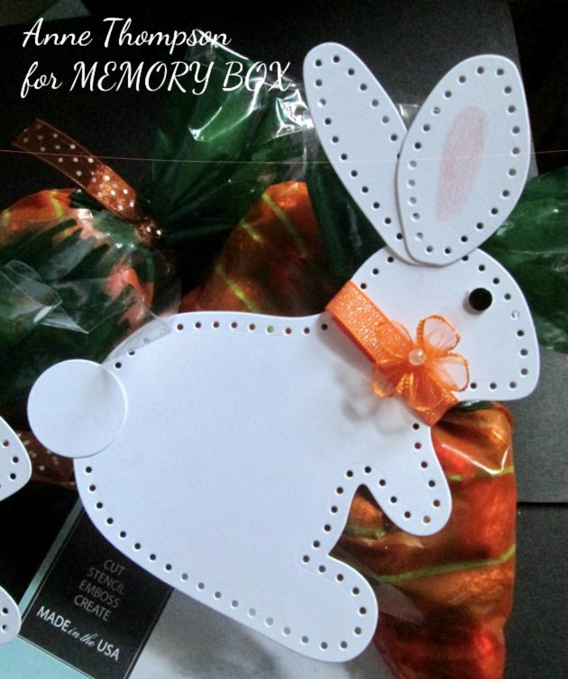 Memory box plush spring bunny die