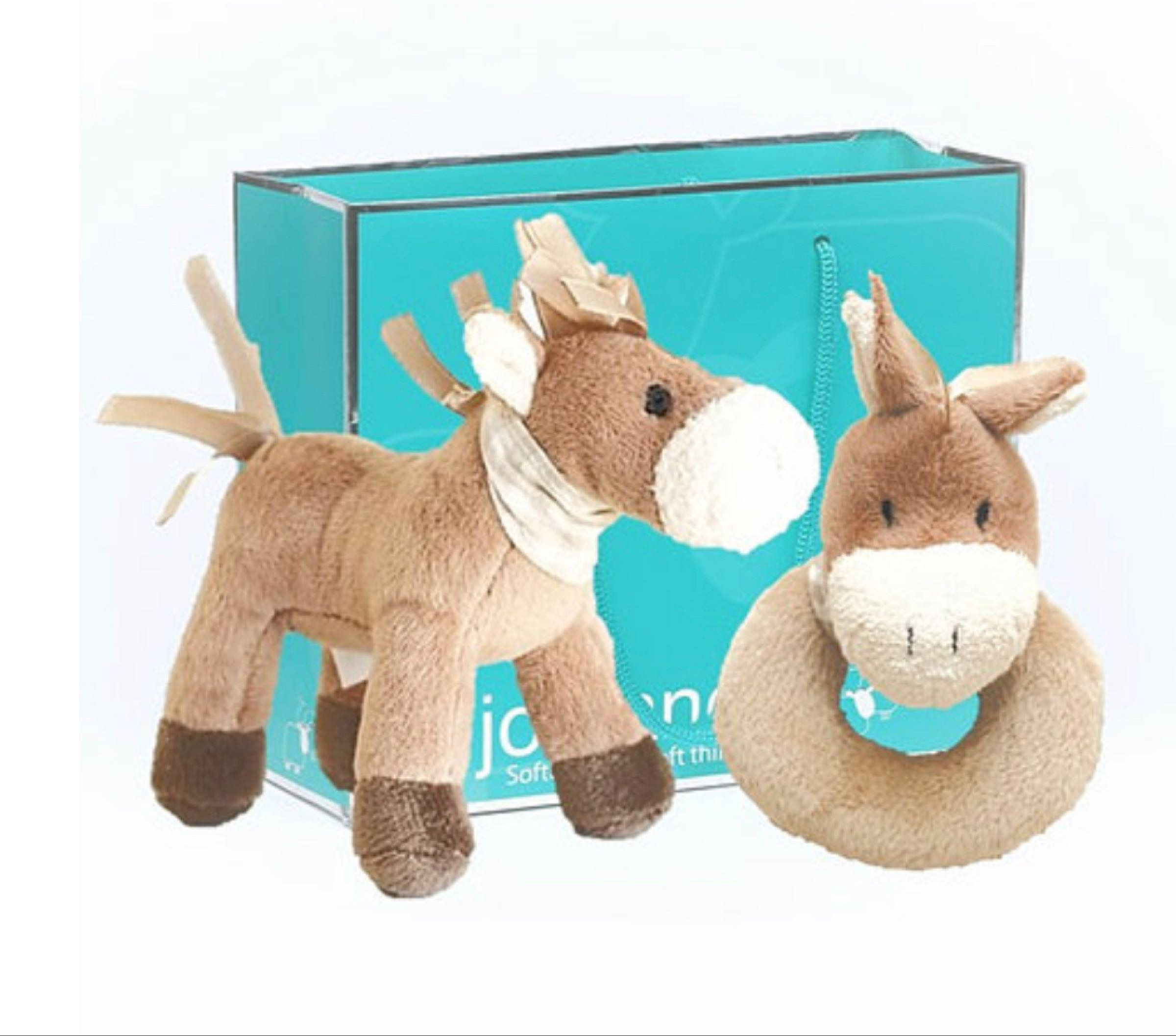 SPECIAL OFFER mini pony 10cm & pony baby rattle 10cm in a Jomanda gift bag