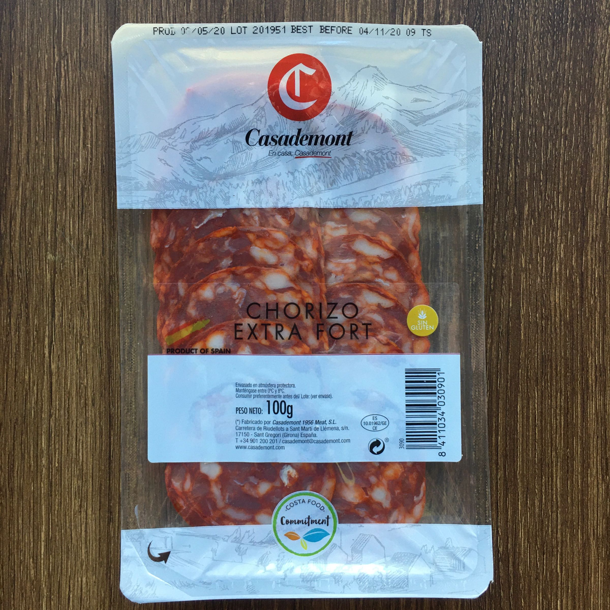 Chorizo Sliced