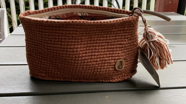 Hand-knitted purse (Cotton)