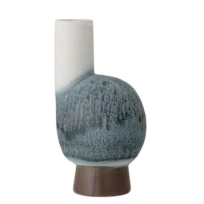 bloomingville-Vase, Blå, Stentøj