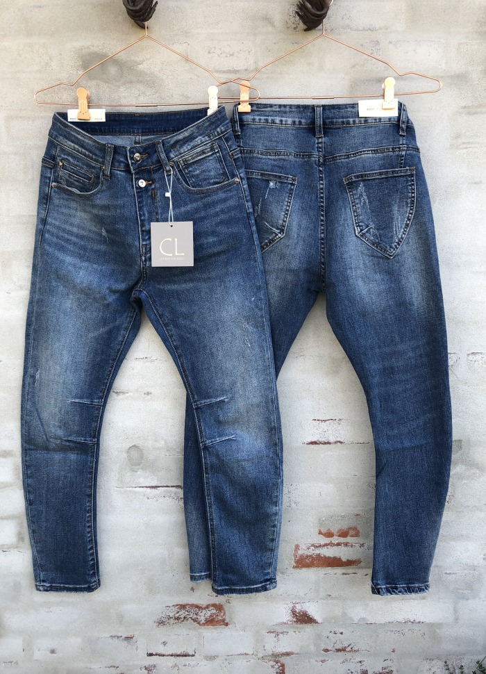 Cabana Living - Baggy Dark Blue Jeans
