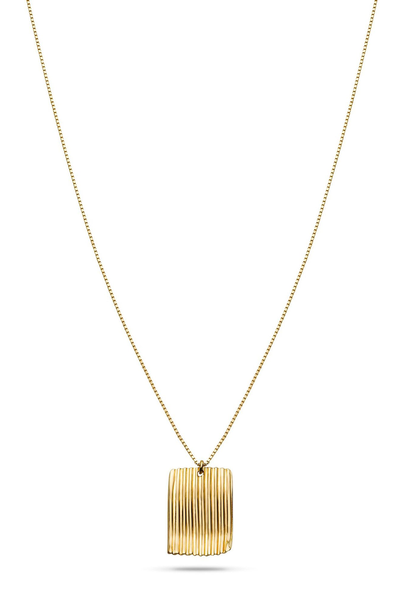 Jukserei square chips necklace