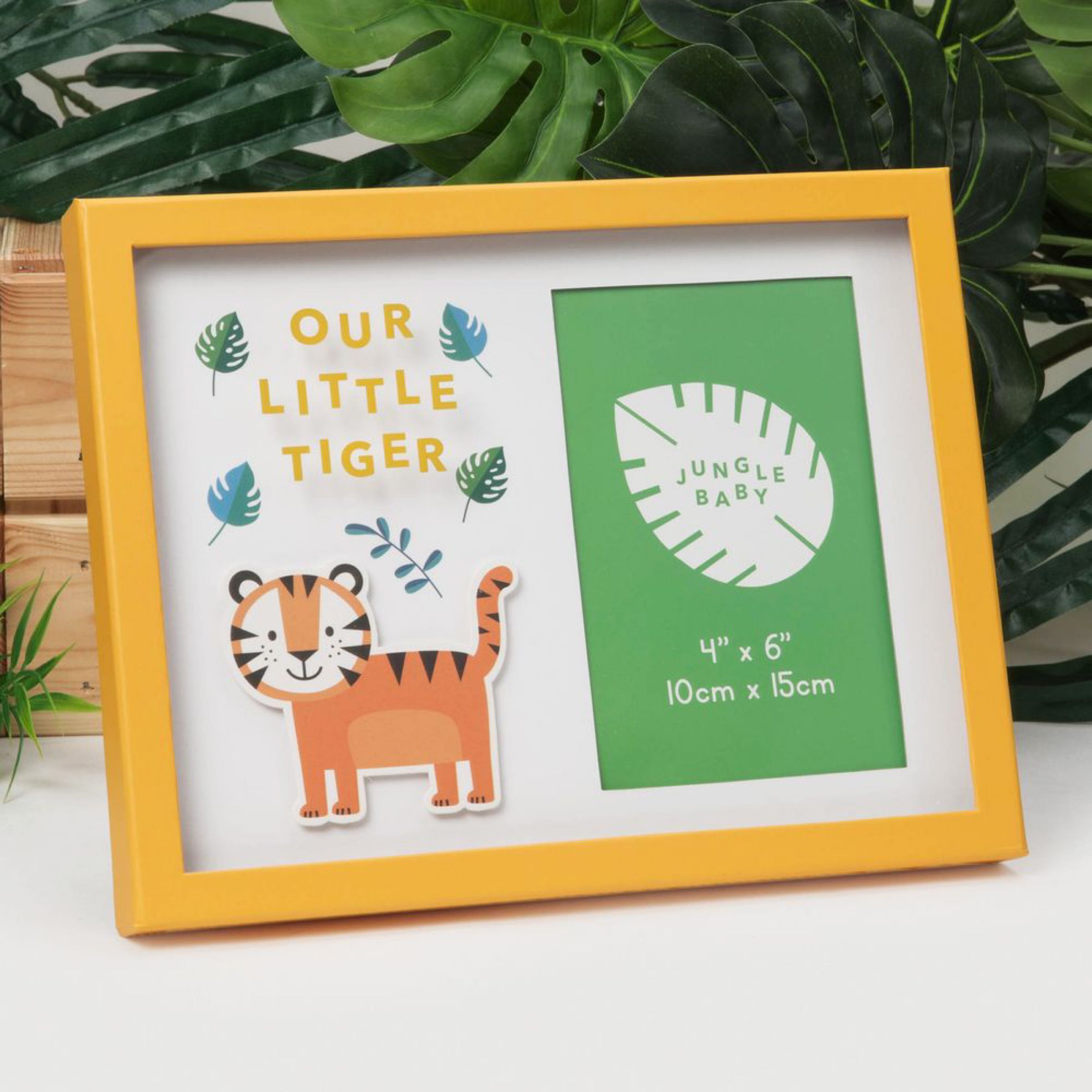 "Jungle Baby Paperwrap Frame 4""x6"" -Our Little Tiger"