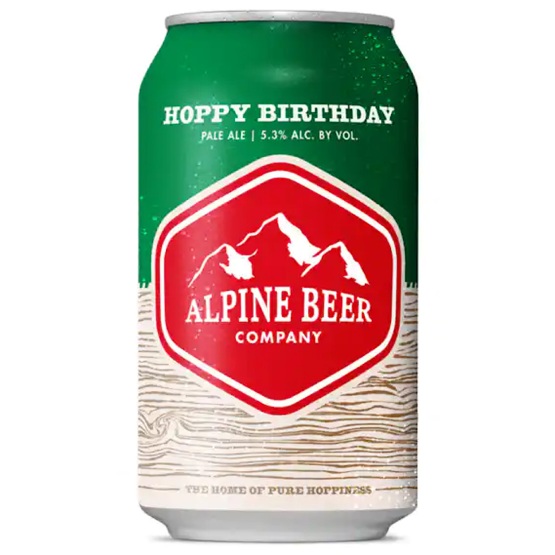 Hoppy Birthday Session IPA 5.3% 355ml - Alpine Beer Co - California, United States