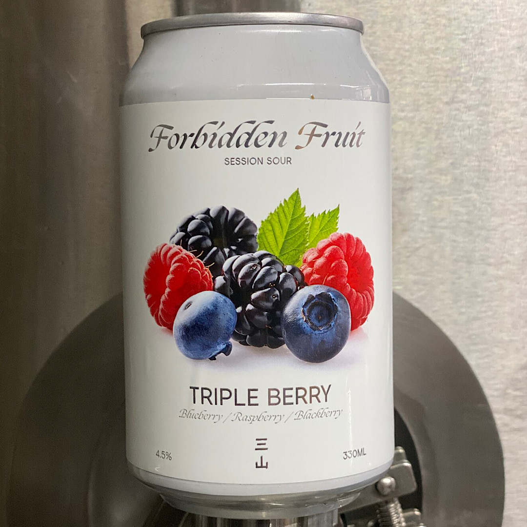 FORBIDDEN FRUIT: TRIPLE BERRY SESSION SOUR 4.5% 330ml Three Hills Brewing