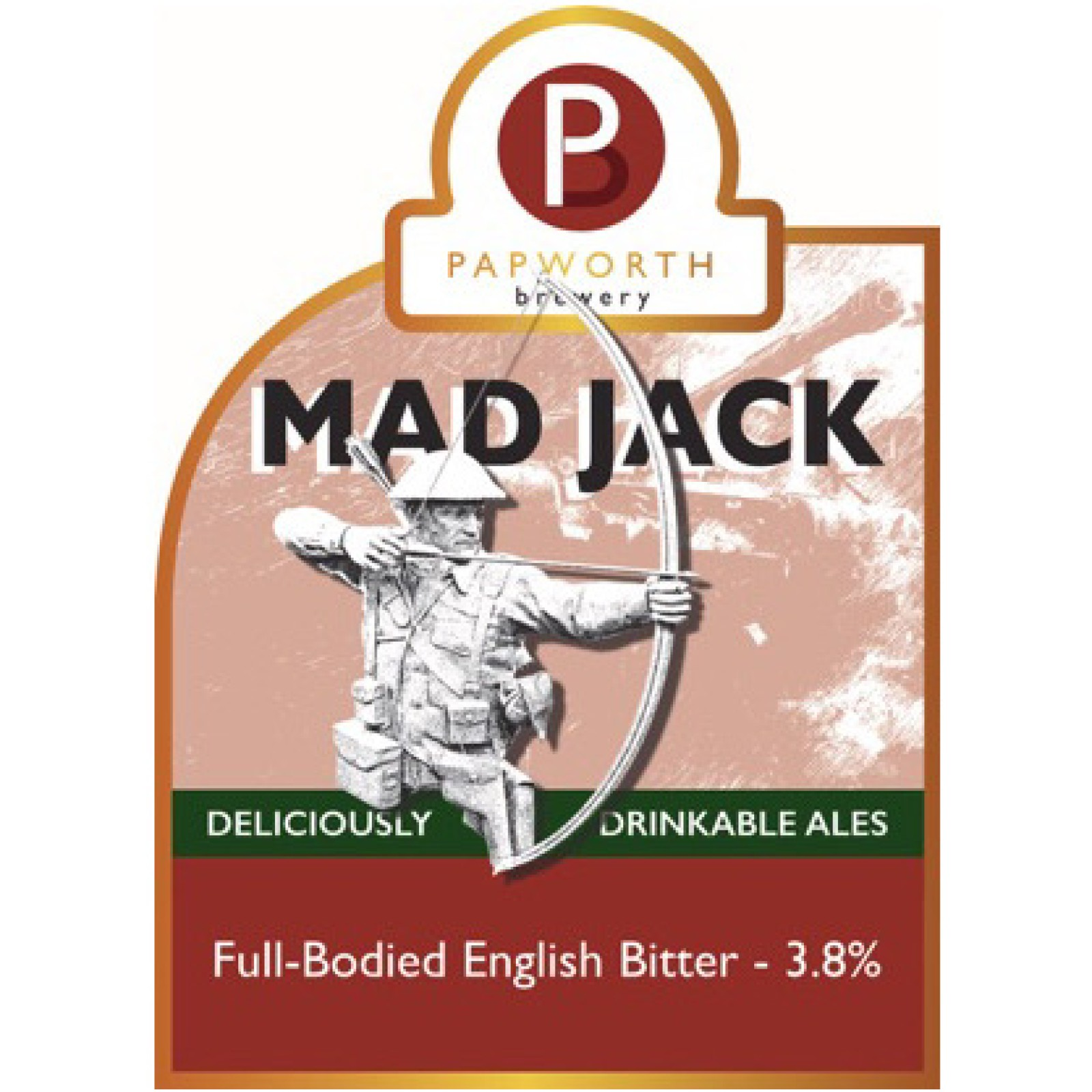 Mad Jack Brown English Bitter 3.8% 500ml Papworth Brewery