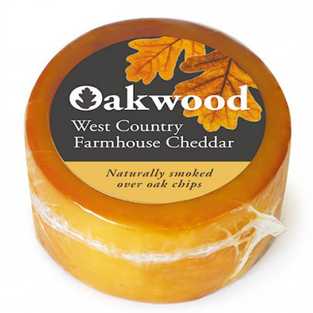Oakwood Smoked Mature Cheddar 200g Truckle Ford Farm