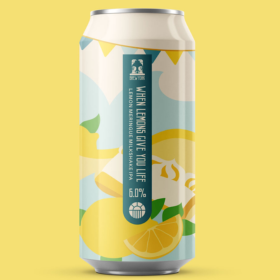 When Lemons Give You Life - Lemon Meringue Milkshake IPA 6% 440ml Brew York