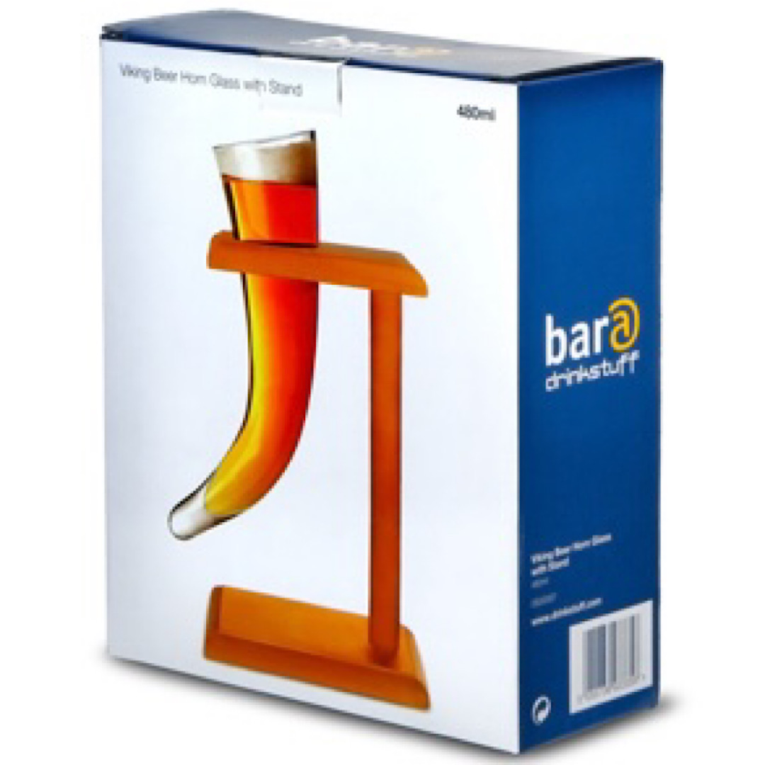 Viking Beer Horn Glass With Stand 480ml