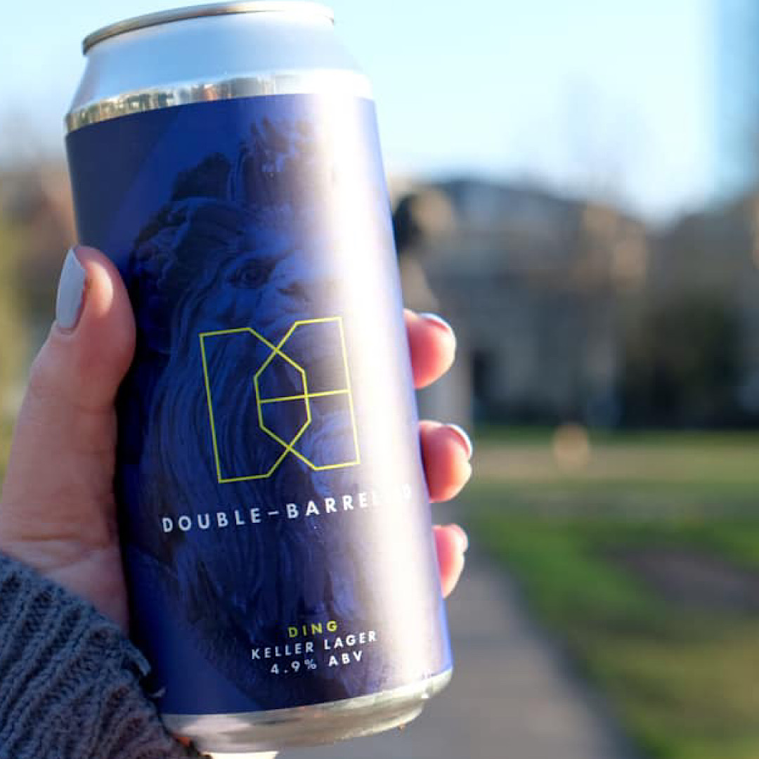 Ding - Keller Lager 4.9% 440ml Double - Barrelled Brewery