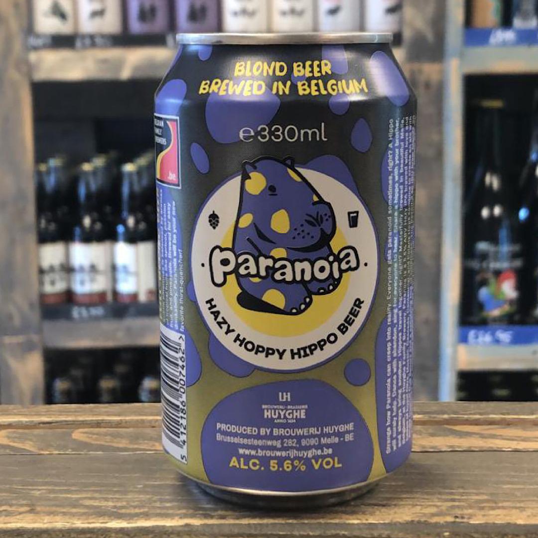 Paranoia - Pale Ale 5.6% 330ml Hazy Hoppy Hippo Beer by Huyghe