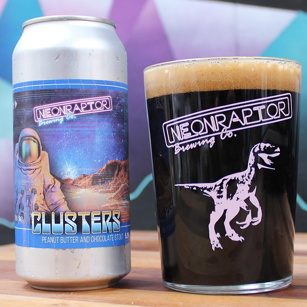 Clusters - Peanut Butter and Chocolate Stout 5.2% 440ml Neon Raptor Brewing Co