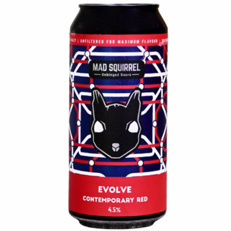 Evolve Contemporary Red Ale 4.5% 440ml Mad Squirrel Brewing
