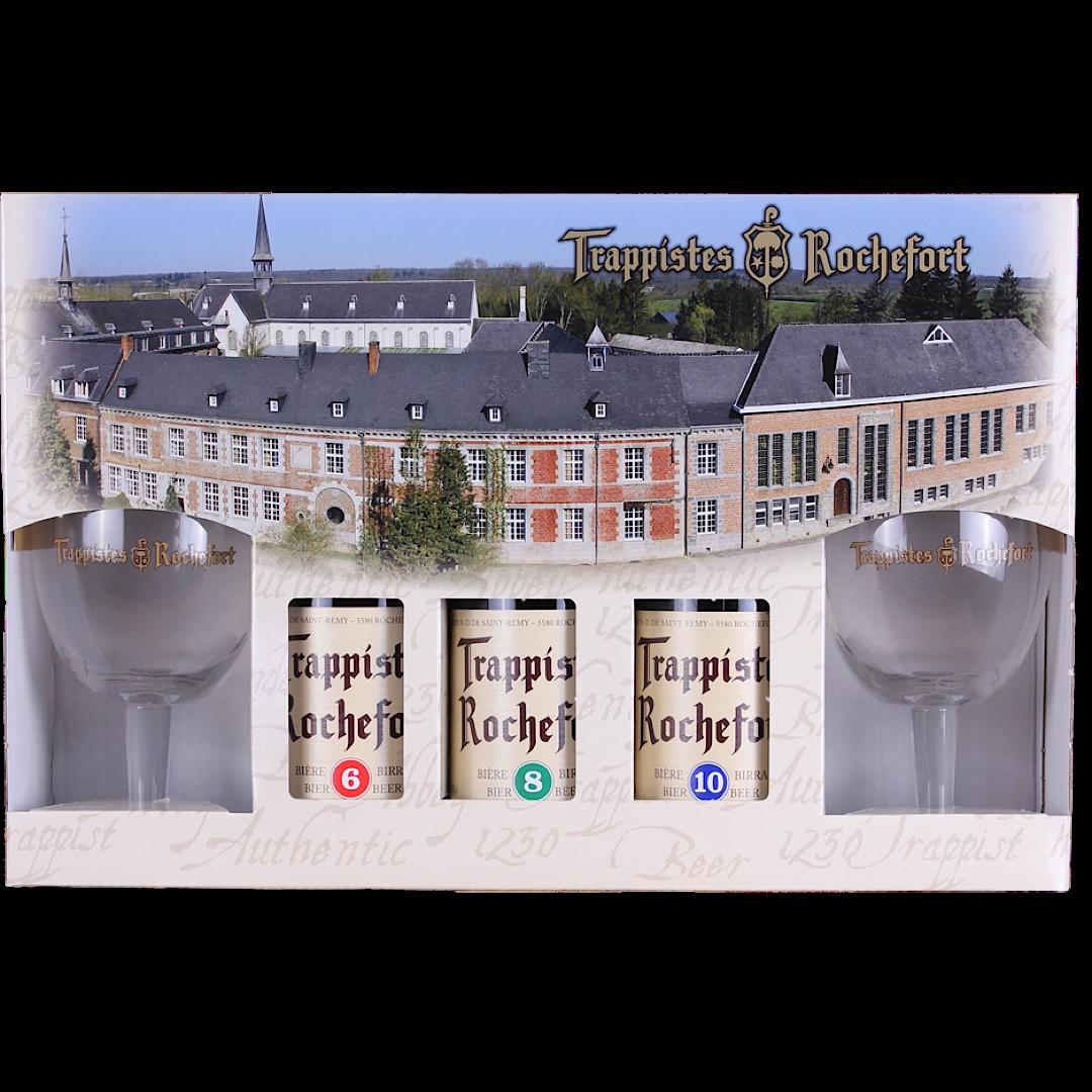 Rochefort Gift Pack 3x330ml + 2 Glasses